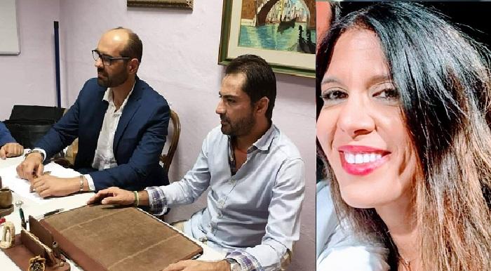 Fabio La Ferla con l'avvocato Antonio Giardina-Alessandra Barbone segretaria dell'Organizzazione Siciliana Ambientale
