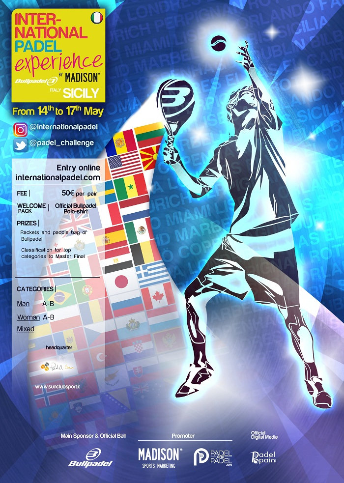 International Padel Experience Sicilia dal 14 al 17 Maggio al centro sportivo  Sun Club Siracusa
