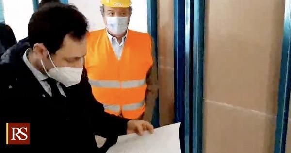 """Sopralluogo di Ruggero Razza nei cantieri dell'Ospedale Policlinico """"Gaetano Martino"""" Messina: """"In atto processo di rigenerazione"""""""