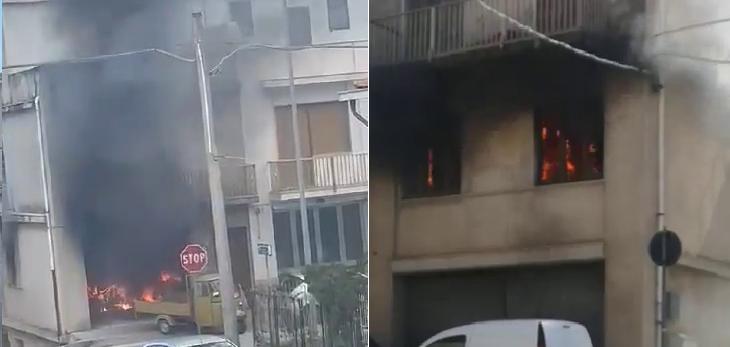 Incendio in autocarrozzeria Ispica, non ci sono feriti
