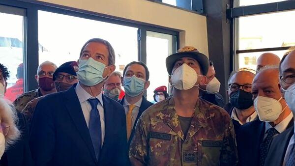Dichiarazioni del presidente Musumeci e del generale Figliuolo relative alla visita a Catania -Video
