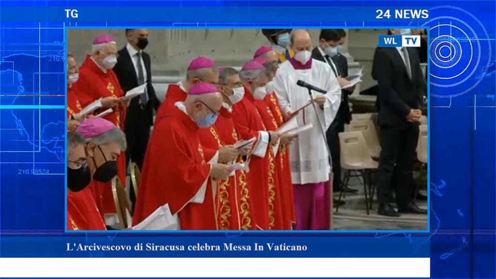 L' Arcivescovo di Siracusa celebra messa in Vaticano