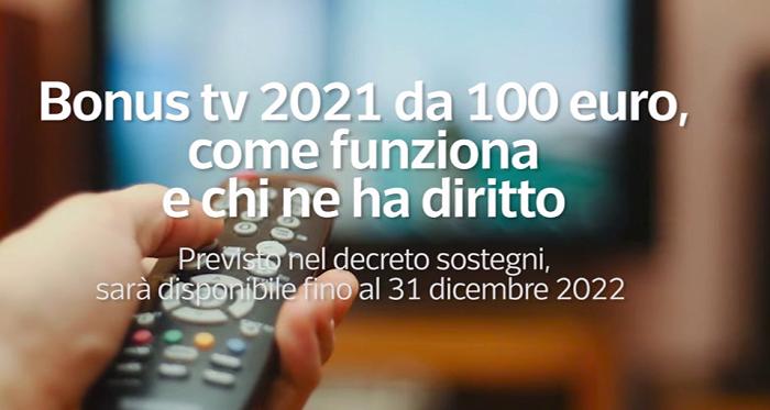 Al via bonus tv, Giorgetti firma decreto