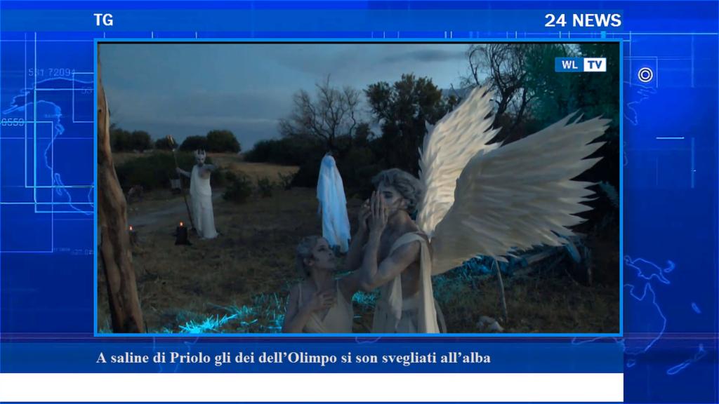TG – A saline di Priolo gli dei dell'Olimpo si son svegliati all'alba