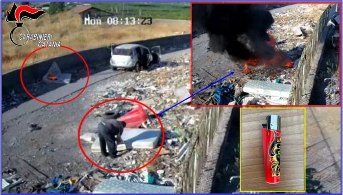 Incendi: arrestato piromane nel Catanese,incastrato da video Appicca il fuoco a rifiuti e scappa, inseguito e bloccato da Cc