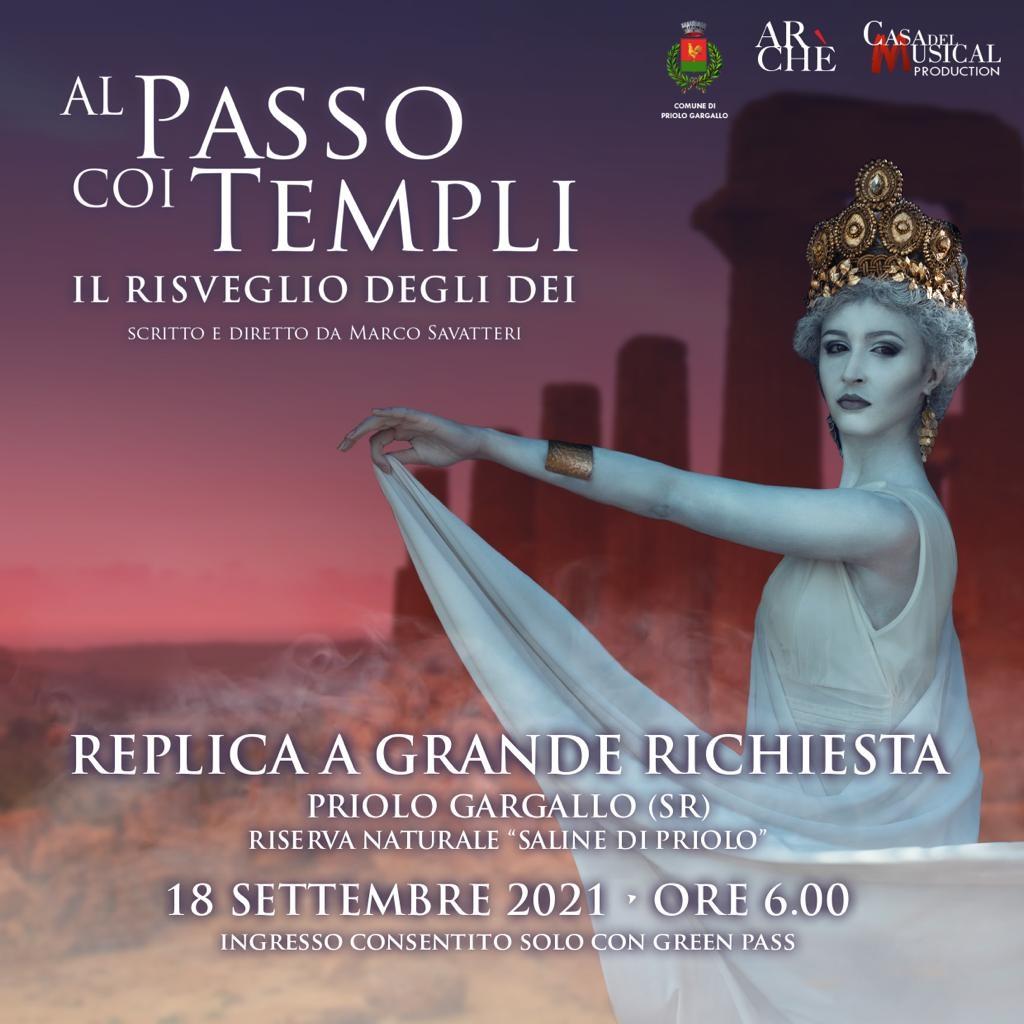 """Estate priolese  – Replica  """" Al passo coi templi"""" a Saline di Priolo"""