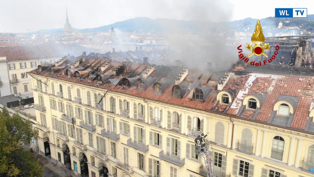 Trieste – Incendio in una palazzina nella periferia –  Video