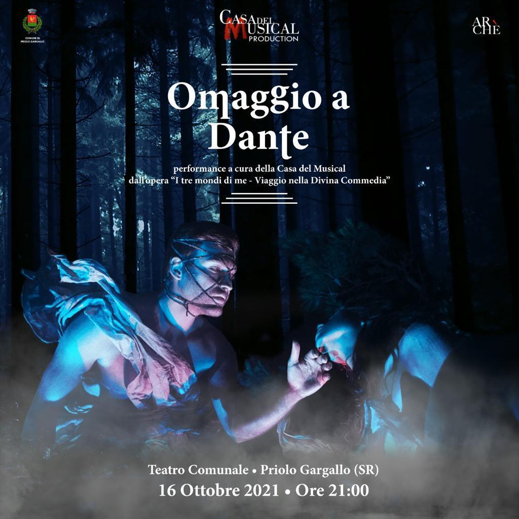 """Priolo , Teatro Comunale – Casa del Musical, dall'opera """"I tre Mondi di me – Viaggio nella Divina Commedia""""."""