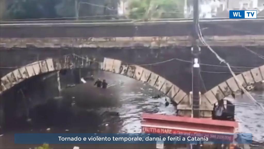 Tornado e violento temporale, danni e feriti a Catania